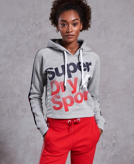 Superdry Diagonal Speed Sport Cropped Hoodie