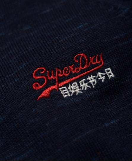 Superdry Pull en coton et à col en V Orange Label