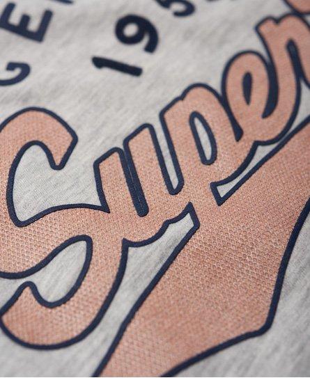 Superdry Airtex T-Shirt in Folienoptik