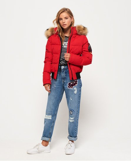 e2f4b8ae2f164 Womens - Everest Ella Bomber Jacket in Red | Superdry