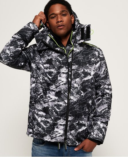 Superdry Arctic Hooded Print Pop Zip SD-Windcheater Jacket