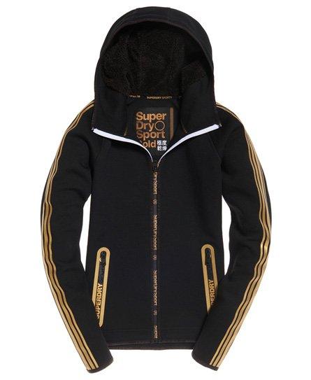 Superdry Gym Tech Gold Zip Hoodie