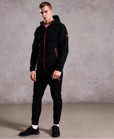 Superdry Felpa con zip e cappuccio Gym Tech Stretch