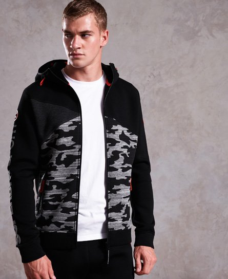 Superdry Gym Tech Spliced Kapuzenjacke