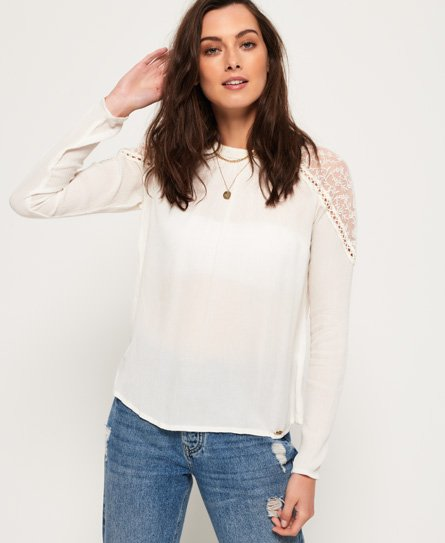 Superdry Kristle Cold Shoulder Mesh Top