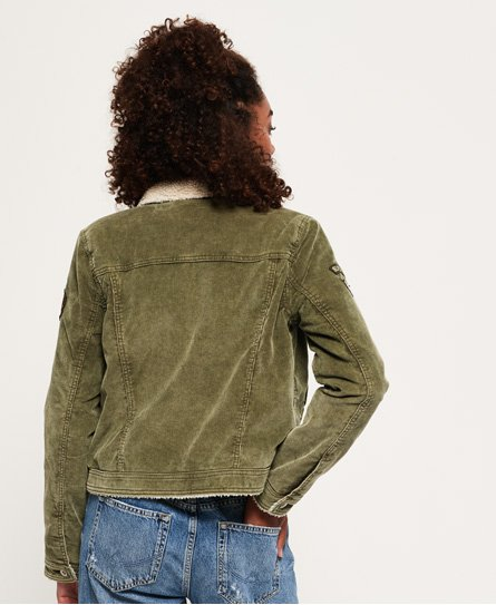 Superdry Cord Girlfriend Borg Jacket