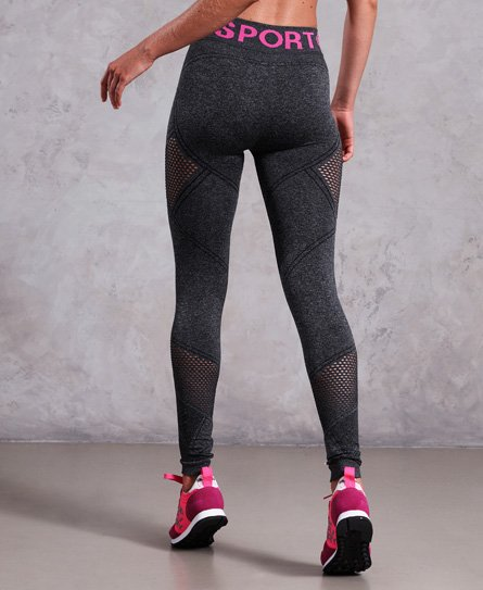 63c260afee9fa Womens - Active Seamless Leggings in Black Marl | Superdry