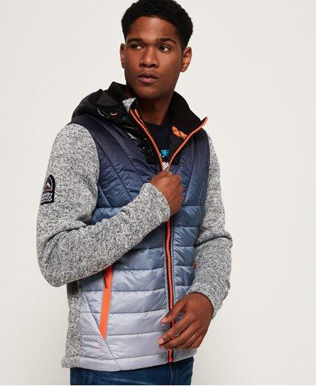 Superdry Storm Ombre Hybrid hoodie met rits