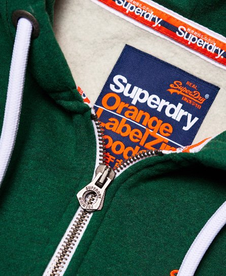 Superdry Orange Label huvtröja med dragkedja