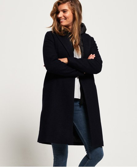 Superdry Fjola Tech Wool Coat
