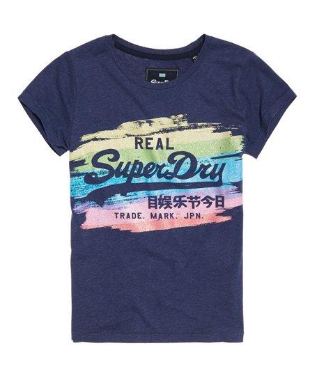 c3dc6d11860 Superdry Vintage Logo Painted Rainbow T-Shirt - Women s T Shirts