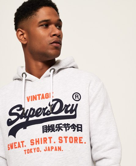 Superdry Sweat Shirt Shop Hoodie mit zweifarbigem Logo