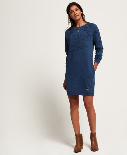 Superdry Luna Broderie Sweat Dress