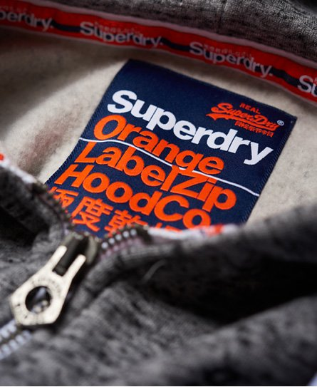 Superdry Gilet à capuche zippé Orange Label