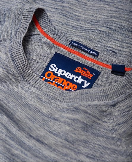 Superdry Pull en coton à col rond Orange Label