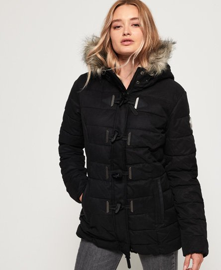 Superdry Microfibre Tall Toggle Parka Jacket