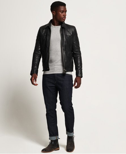 Superdry Superdry Premium Indiana Leather Jacket