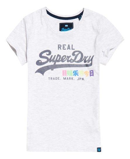 Superdry Vintage Logo T-shirt med neonfarvet logo