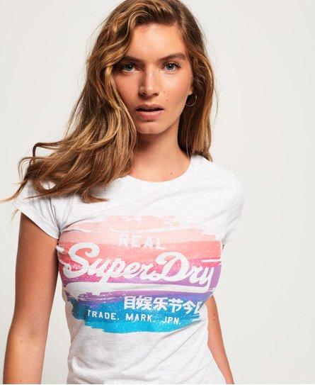 Superdry Vintage Logo T-shirt med regnbuemalet design