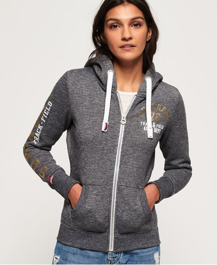 Superdry Track & Field hoodie met rits