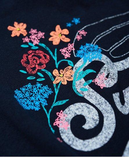 Superdry T-shirt a fiori annodata sul davanti High Flyers