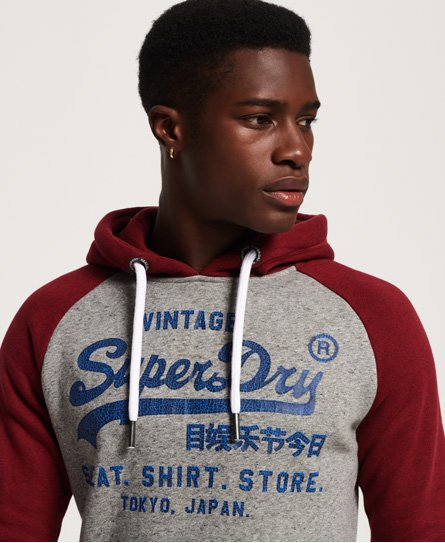 Superdry Sweat Shirt Store Raglan Hoodie