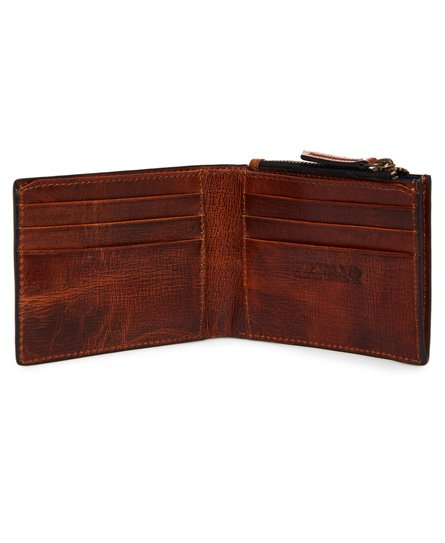 Superdry Profile Leather Wallet In A Tin