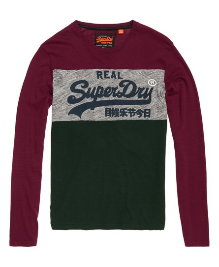 Superdry Vintage Logo Panel Long Sleeve T-Shirt
