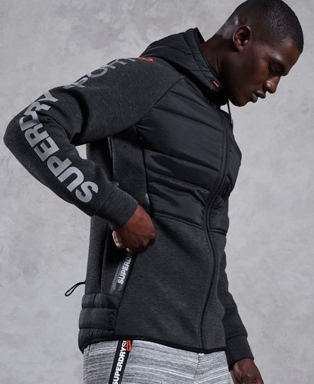 Superdry Gym Tech Hybrid Stretch-Kapuzenjacke
