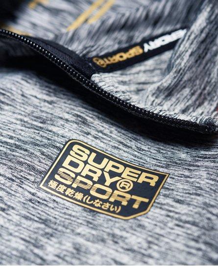 Superdry Haut avec demi-fermeture zippée Performance