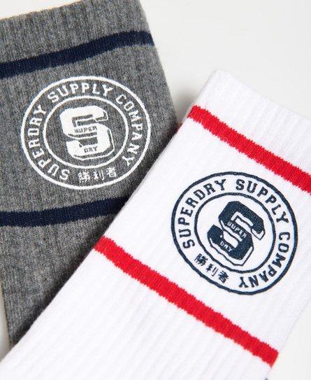 Superdry Varsity Socks Double Pack