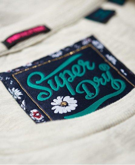 Superdry High Flyers T-Shirt mit Zierknoten und Blumen-Print