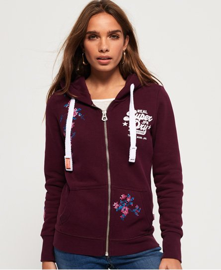 Superdry Cross Stitch Zip Hoodie