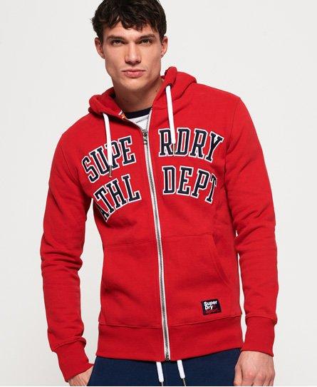 Superdry Academy Sport hoodie met rits in appliqué