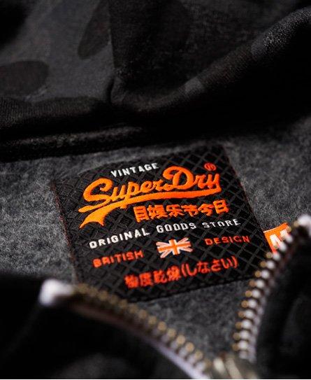 Superdry Vintage Logo Kapuzenjacke mit Tarnmuster und Einsatz