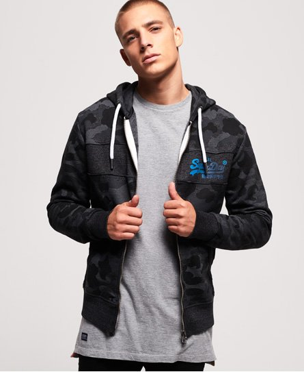 SUPERDRY Men/'s Vintage Logo Authentic Camo Hood Sweatshirt Grey Grit Size:M-XXXL