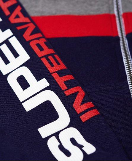 Superdry Gilet à capuche zippé tricolore Trophy