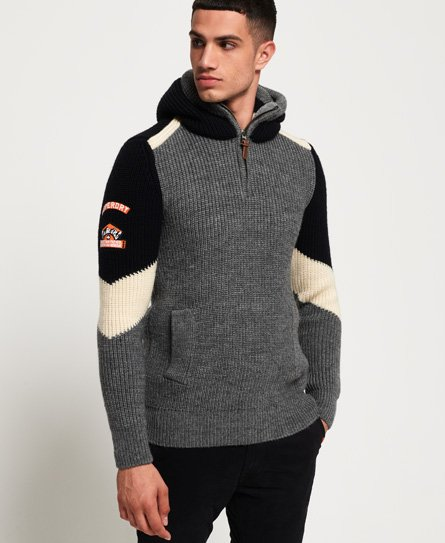 Superdry Sweat à capuche à chevrons Super Ski