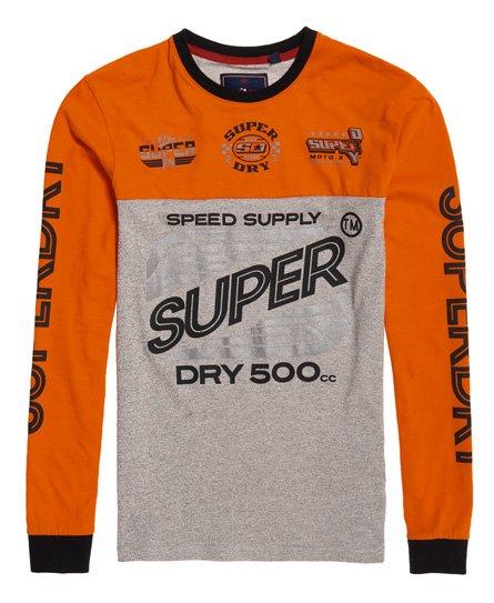Superdry Dry 500CC Long Sleeve Panel T-Shirt