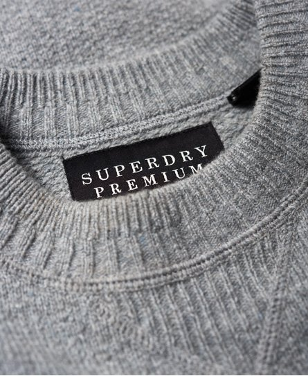 Superdry Premium Pique Crew Jumper