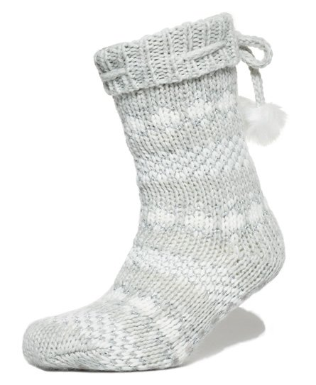Sparkle Fairisle Slipper Socks
