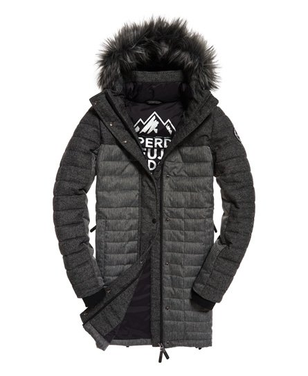 Superdry Elements Tweed parka met capuchon
