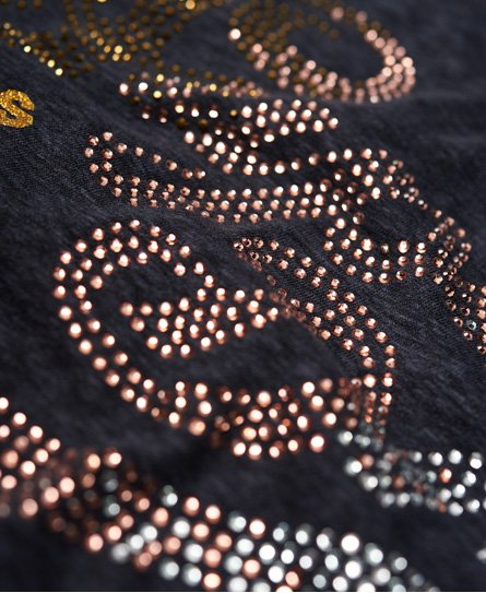 Superdry T-shirt con strass Classic