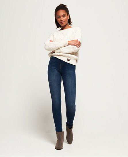 Superdry Jean taille haute skinny Superflex