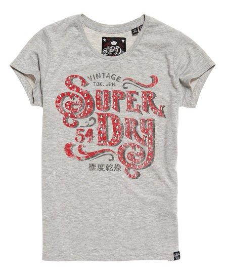 Superdry Frontier Script T-Shirt mit Nietenbesatz
