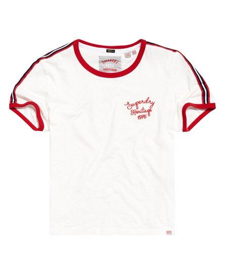 Superdry T-shirt ampia Heritage Ringer con ricamo