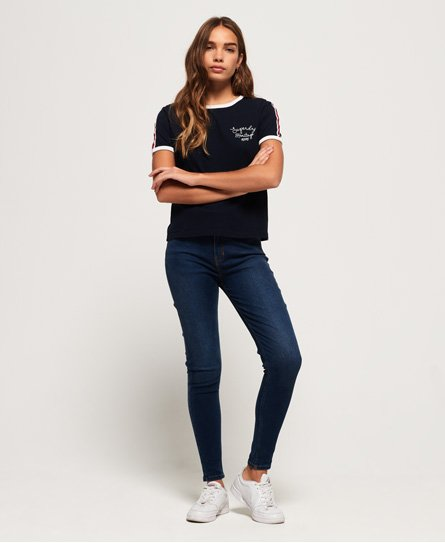 Superdry Heritage Embroidery Ringer Boxy T-shirt