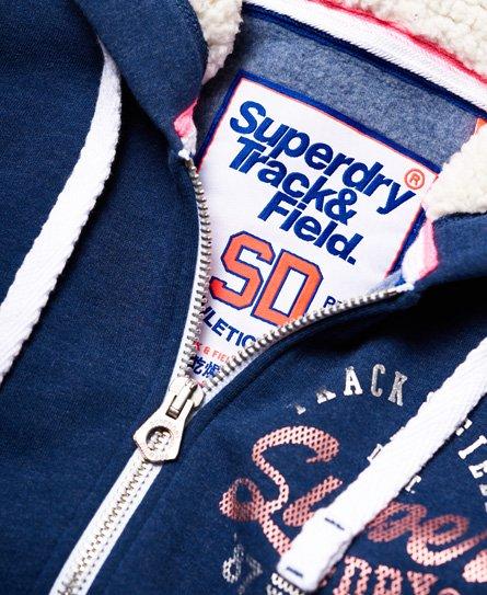 Superdry Track & Field Borg Kapuzenjacke
