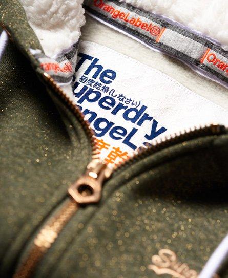 Superdry Orange Label Sparkle Borg Zip Hoodie