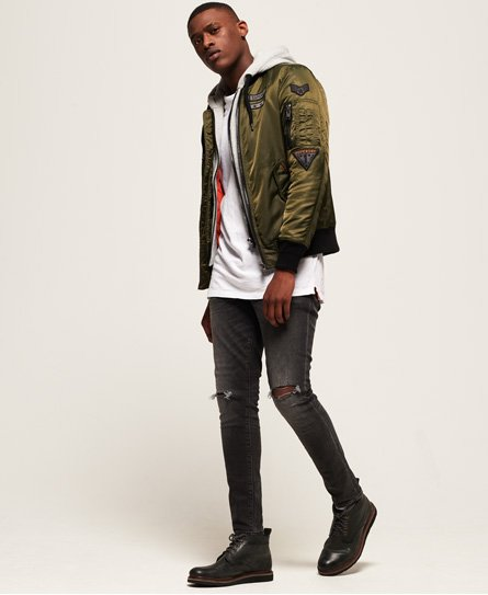 Patch Blouson Rookie Flight Aviateur Superdry vqCwTZH